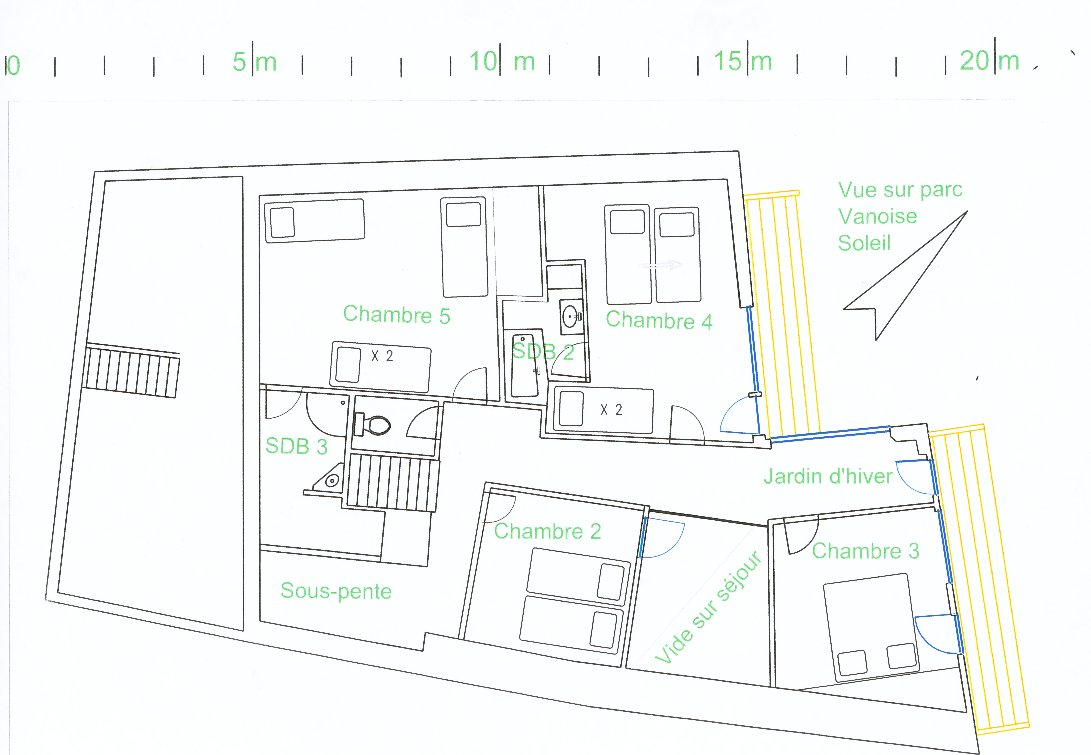 Floor Plans Of A Chalet In Sainte Foy Alps